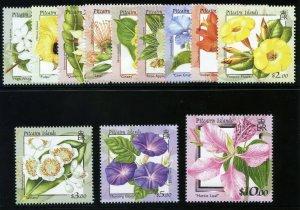 Pitcairn Islands 2000 QEII Flowers set complete MNH. SG 564-575. Sc 512-523.
