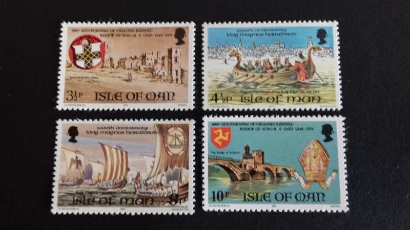 Isle of Man 1974 Historical Motives Mint