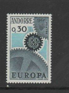 ANDORRA, FRENCH #174  1967   EUROPA  MINT VF LH  O.G
