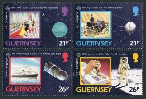 Guernsey 449-452,MNH.Michel 518-521. EUROPE CEPT-1991.Space exploration.Ship.