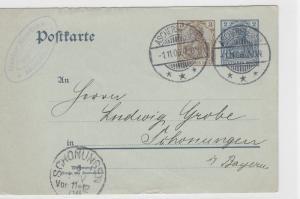 German Postal History Stamps Postcard Ref: R4840