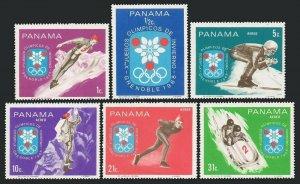 Panama 484-484E,MNH.Michel 1046-1051. Olympics Grenoble-1968.Ski jumper,Skier,