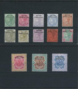 SOMALILAND 1903 SET OF THIRTEEN MM SG 1/13 CAT £130 HEAVY MOUNT