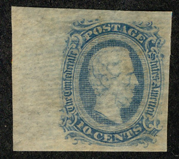 US #CONFEDERATE US #11 VF/XF mint never hinged, four nice margins, usual dry ...