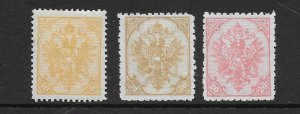 Bosnia 17 19 20 1911 reprints unused