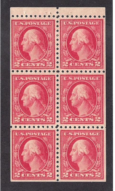 463a Mint,OG,LH... Booklet Pane... SCV $110.00