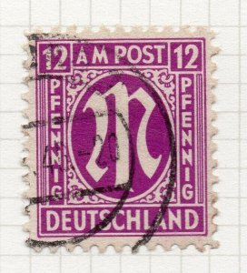 Germany British & American Occ Zone 1945 Early Issue Fine Used 12pf. NW-97533