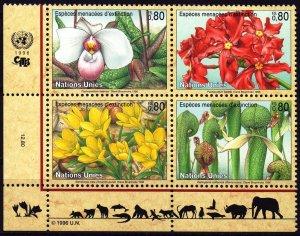 UN Geneva. 1996. 288-91. Flowers. MNH.