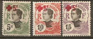 Indo-china Indochine B2-4 SG 79-81 MNG F/VF 1914 SCV $6.60