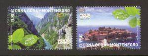 Montenegro Sc# 321-2 MNH Europa 2012 / Tourism