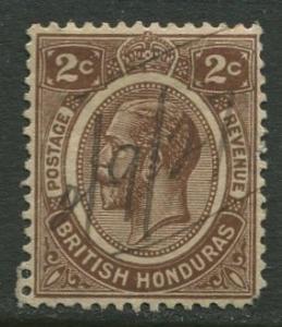 British Honduras.- Scott 93 - KGV Definitive - 1922 - Used - Single 2c Stamp
