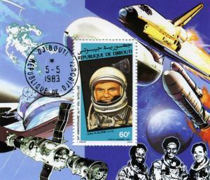 SPACE John Glenn Souvenir Sheet Perforated Fine Used