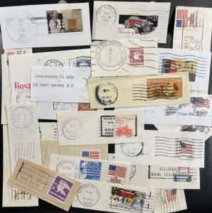 US LOT Used on Paper Cutouts With Full Cancel Circa 1977-2006 [R792]