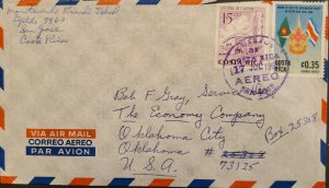 L) 1966 COSTA RICA, SCOUT, CATHEDRAL OF TILARAN, ARCHITECTURE, FALG, AIRMAIL, CI