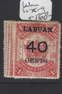 LABUAN  (PP2811B)   SURCHARGE SET SG 75-9   MOG