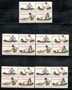 1717-20 Skilled Hands For Independence Wholesale Lot Of 5 Blocks MNH SHIPS FREE