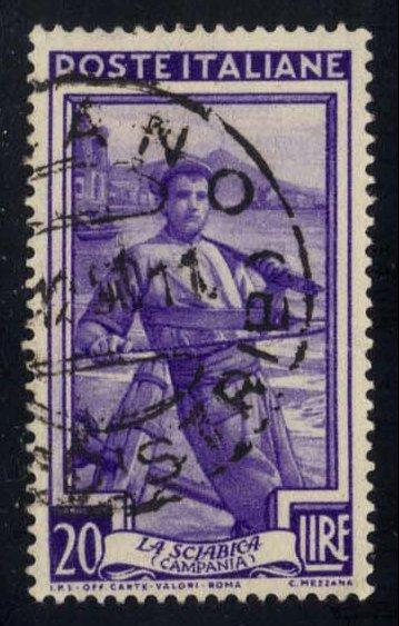 Italy #557 Fisherman, used (0.25)