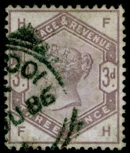 SG191, 3d lilac, USED. Cat £100. FH