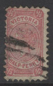 VICTORIA SG176 1874 ½d ROSE-RED USED