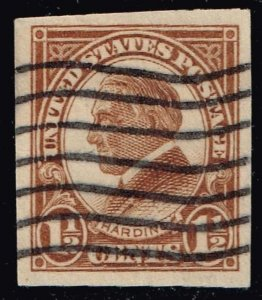 US STAMP #576 1 1/2c Series Of 1923 IMPERF used stamp