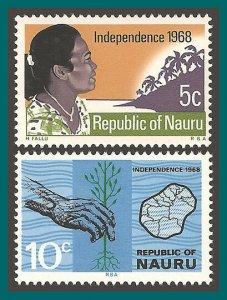 Nauru 1968 Independence, MNH 86-87,SG94-SG95