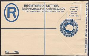 TRINIDAD GV 3d registered envelope fine unused..............................5205