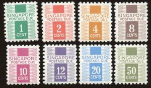 Singapore - Sc# J1 - J8, MNH.  2017 SCV $24.80