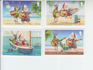 2019 Cayman Is Christmas (4)(Scott NA) MNH