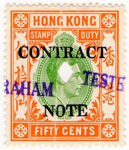 (I.B) Hong Kong Revenue : Contract Note 50c