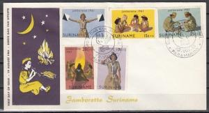 Suriname, Scott cat. B80-84. Girl Scout Jamboree. First day cover.
