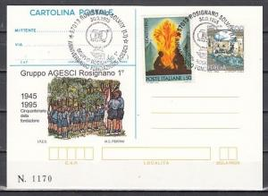 Italy, 30/SEP/95 issue. Gruppo Agesci Cancel and Cachet on a Postal Card. ^