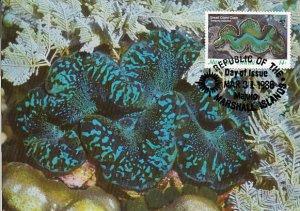 Marshall Islands 1986 Maxicard Sc #112 14c Small Giant clam WWF