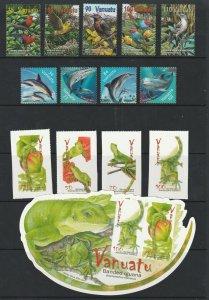 Vanuatu x 3 sets & a mini all MNH