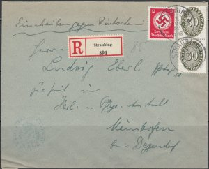 Germany - 3.7.1934 Mix franking official cover Straubling - Deggendorf (1698)