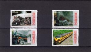 Turkmenistan 2000  TRAINS-LOCOMOTIVES Set (4) Perforated MNH