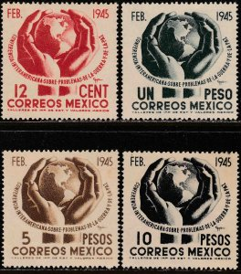 MEXICO 792-795, Conference on War & Peace. UNUSED, H OG. VF.