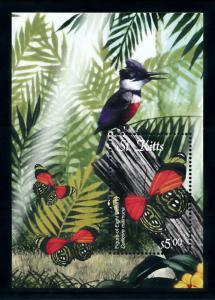 [98808] St. Kitts 2001 Insects Butterflies Bird Souvenir Sheet MNH