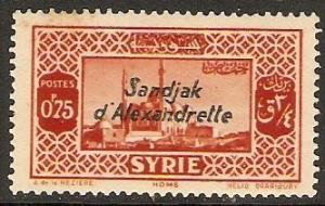 Alexandretta 1938 Scott 10 Syrian stamp overprinted MLH