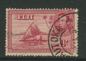 Fiji - Scott 132 - KGVI - Definitive - 1940 - Used - Single1.1/2p - Stamp