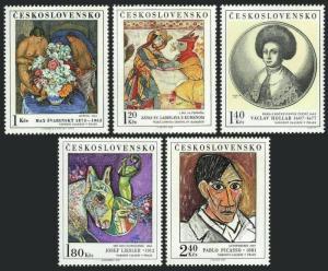 Czechoslovakia 1847-1851,MNH.Michel 2105-2109.Paintings 1972.Pablo Picasso,