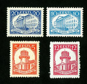 Estonia Stamps # 108-11 VF OG NH + LH Catalog Value $21.90