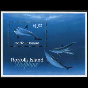 NORFOLK IS. 1997 - Scott# 623 S/S Dolphin NH