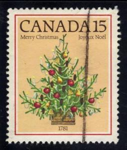 Canada #900 Christmas Tree of 1781, used (0.25)