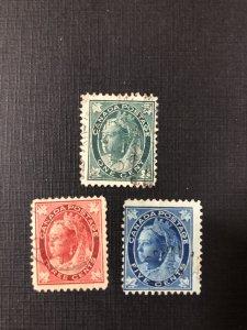 Canada Scott 67, 69 - 70 Used
