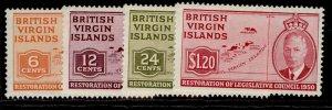 BRITISH VIRGIN ISLANDS GVI SG132-135, complete set, M MINT.
