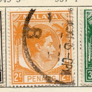 Malaya Penang 1949-52 Early Issue Fine Used 2c. 029249