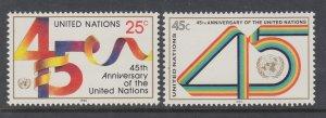UN New York 577-578 MNH VF