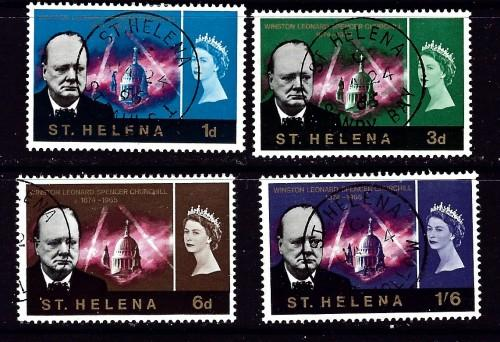 St Helena 184-87 Used 1966 Churchill set