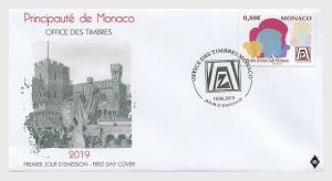 H01 Monaco 2019 25th Anniversaries of the Zonta Club Monaco FDC