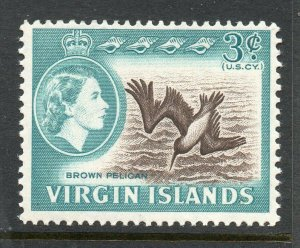 Virgin Islands 1964 QEII 3c Brown Pelican Bird SG 180 MNH